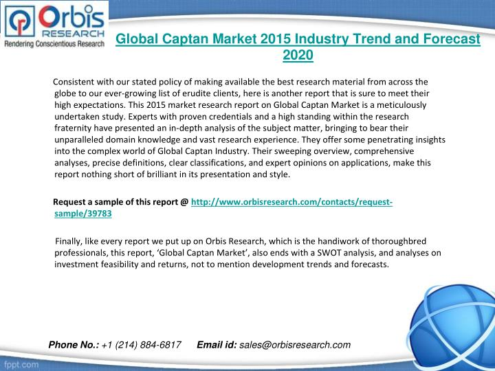 Global captan market 2015 industry trend and forecast 20201
