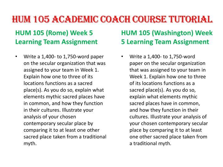 HUM 105 Academic