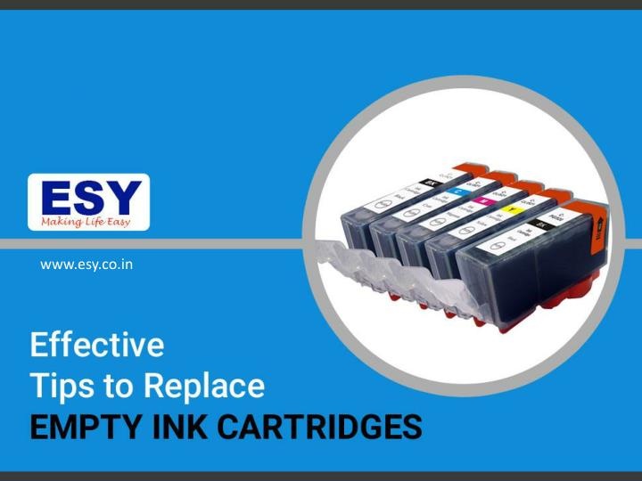 effective tips to replace empty ink cartridges n.