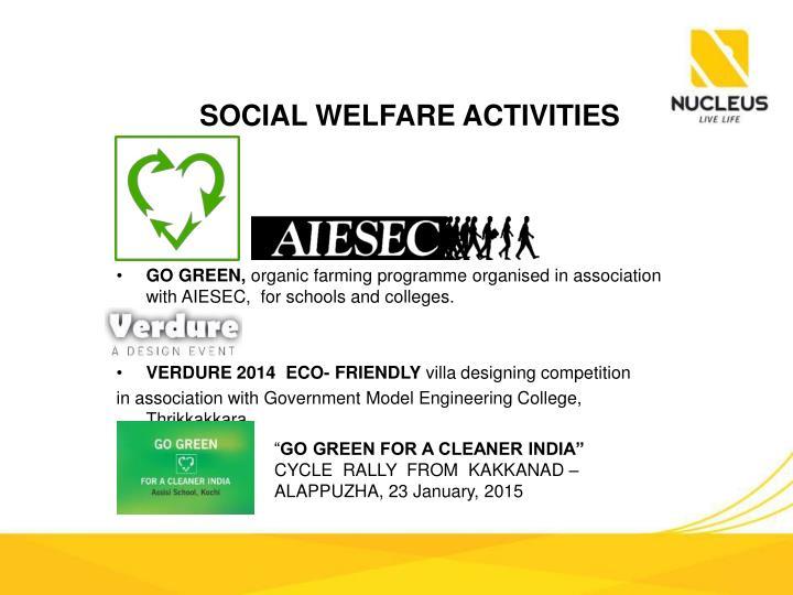 SOCIAL WELFARE ACTIVITIES