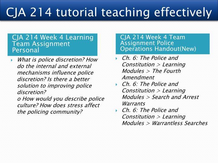 cja214 week 3 policing culture