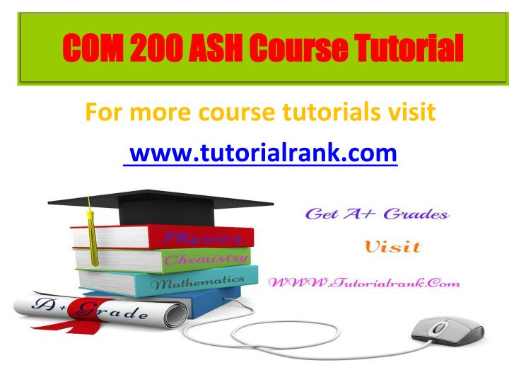 for more course tutorials visit www tutorialrank com n.