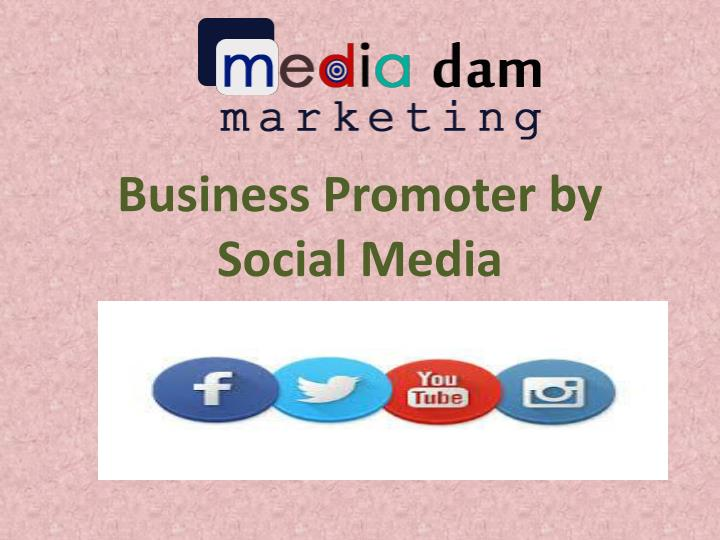 Business promoter by social media