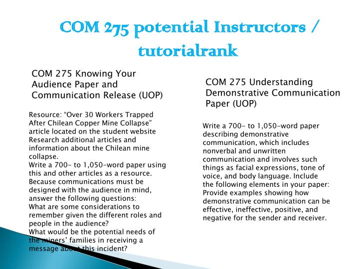 describing demonstrative communication which includes nonverbal Essay instructions: write a 700- to 1,050-word paper describing demonstrative communicationdemonstrative communication includes nonverbal and unwritten communication and involves such things as facial expressions, tone of voice, body language, and so forth.