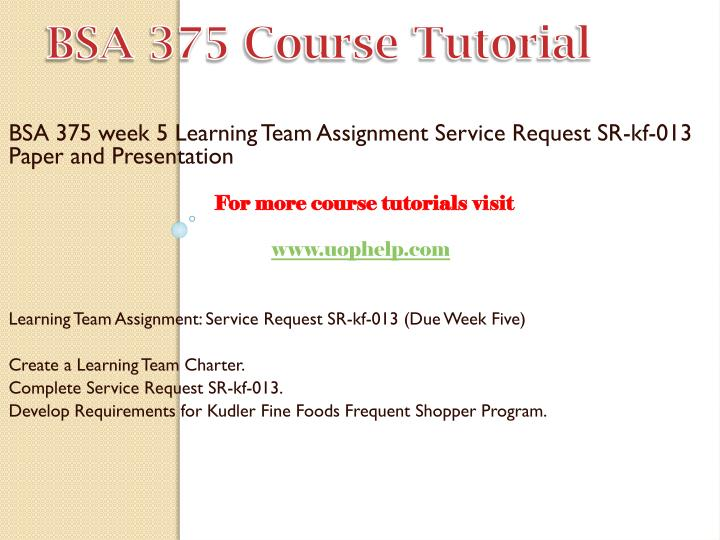 bsa 375 sr kf 013 support and maintenance plan summary