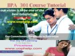 bpa 301 course tutorial