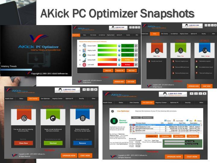 Akick pc optimizer snapshots