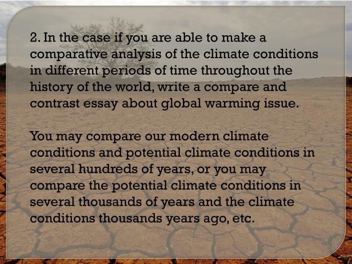 Global warming essay ppt