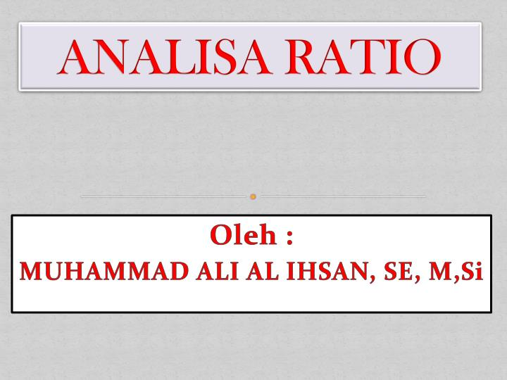 analisa ratio n.
