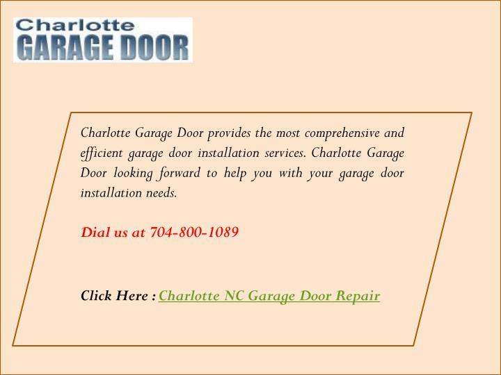 Ppt ttop garage door repair in charlotte nc powerpoint for Charlotte garage door repair