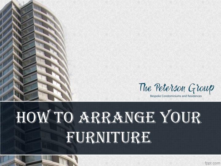 how to arrange your furniture n.