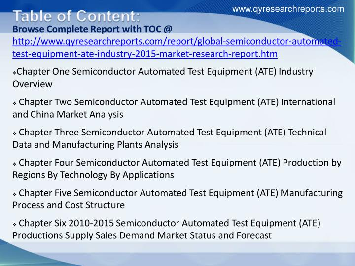 the global automated test equipment The global automated test equipment market analysis (2017-2023) report has been added to researchandmarketscom's offering.