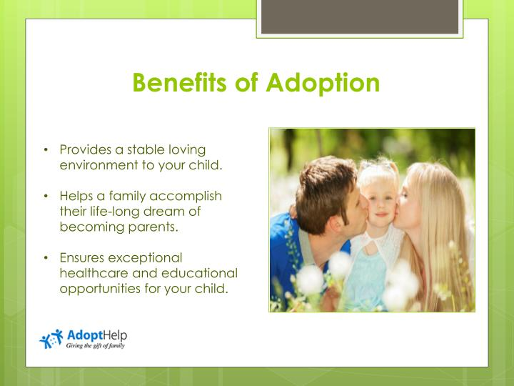 benefits of adoption An overview of the myths and inaccurate information regarding adopting from foster care followed by facts on irs publication 968 tax benefits for adoption.