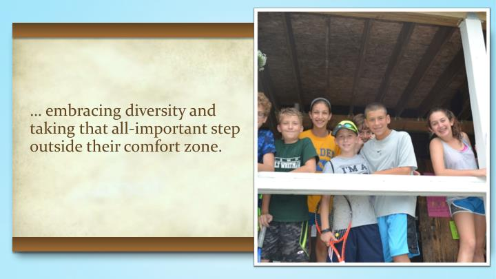 … embracing diversity and
