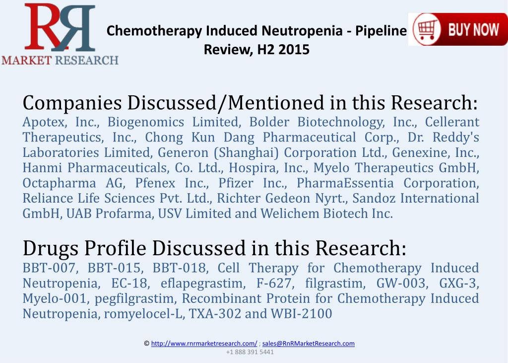 PPT - Chemotherapy Induced Neutropenia Pipeline Review H2