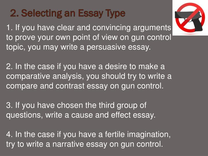 essays on gun control persuasive