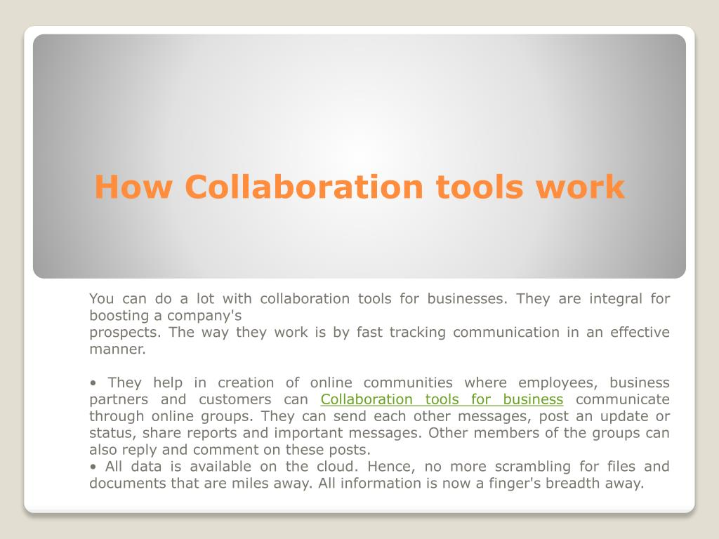 PPT - Collaboration Tools For Business, Enterprise Communication