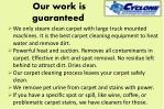 our work is guaranteed