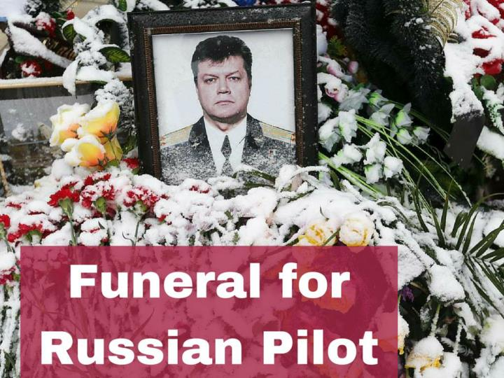 funeral for russian pilot n.