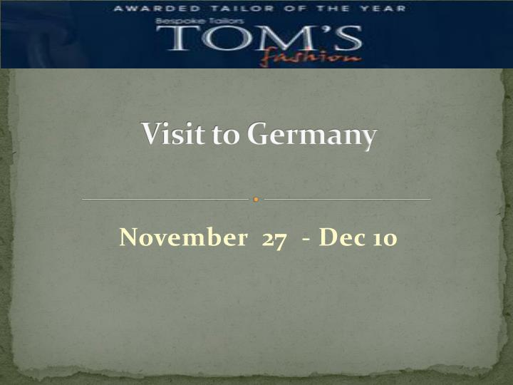 Visit to germany