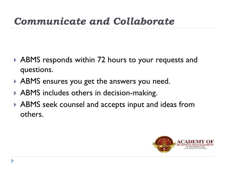 Communicate and