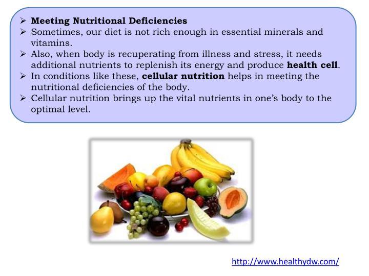 Meeting Nutritional Deficiencies