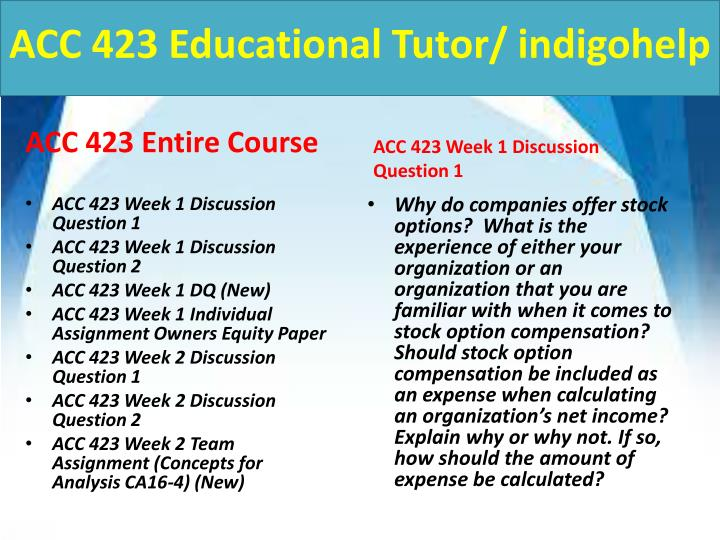 Acc 423 educational tutor indigohelp1