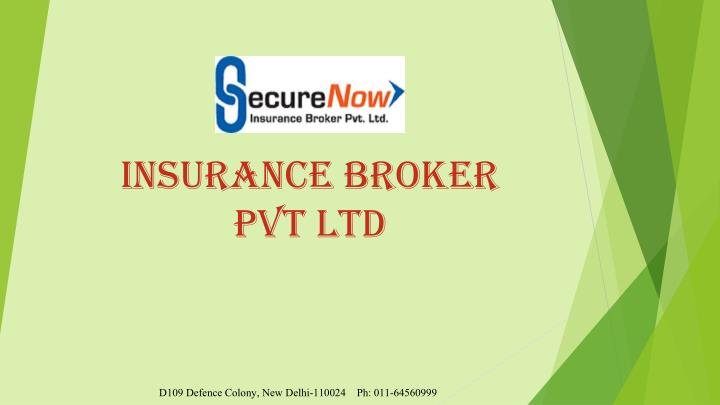 Insurance broker pvt ltd