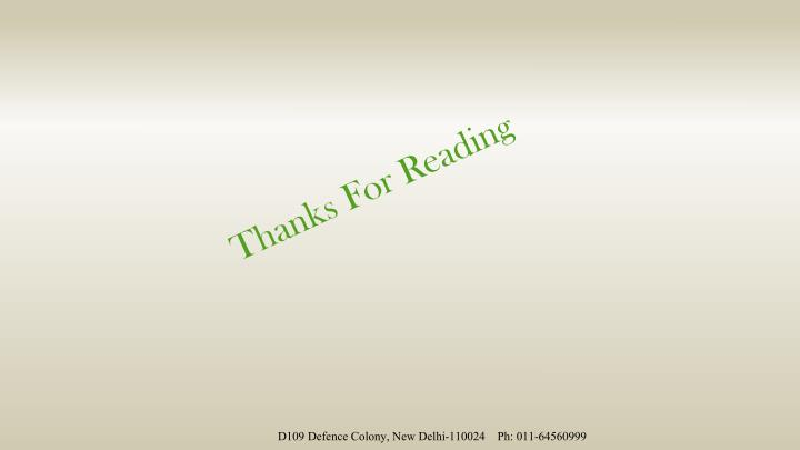Thanks For Reading