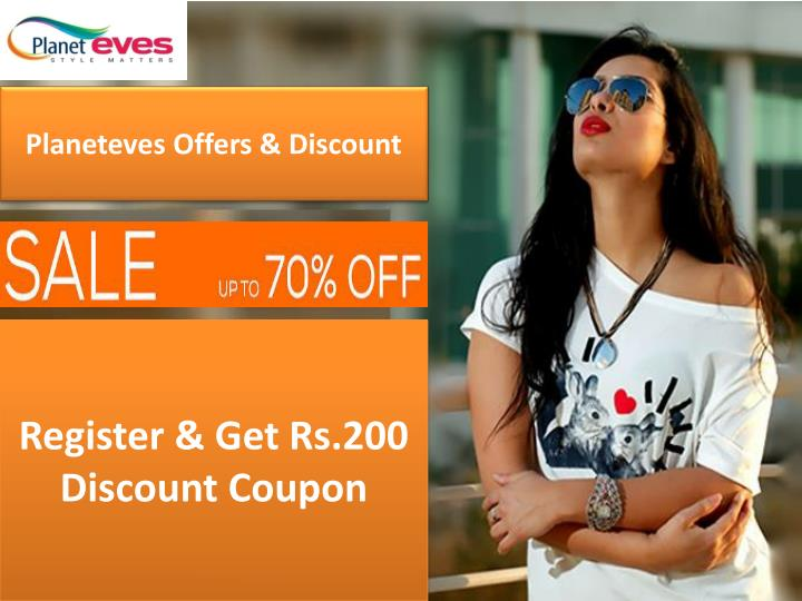 Planeteves offers discount