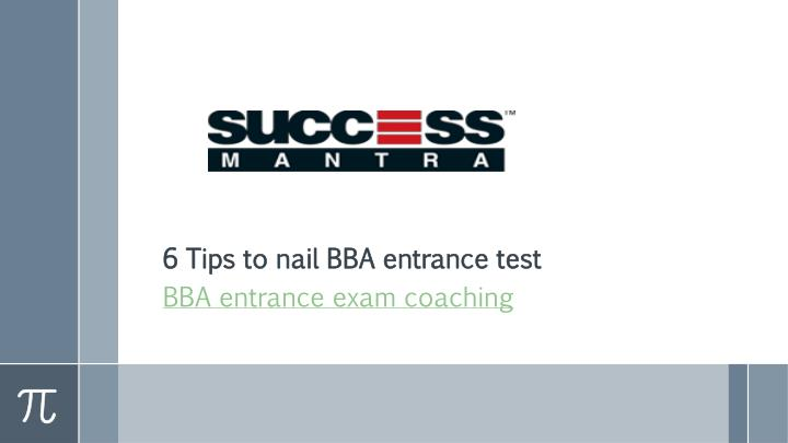 6 tips to nail bba entrance test n.