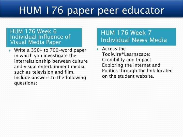 hum 176 media and american culture week Hum 176 entire course link hum 176 week 2 media convergence in what ways have various forms of visual entertainment media shaped american culture and its.