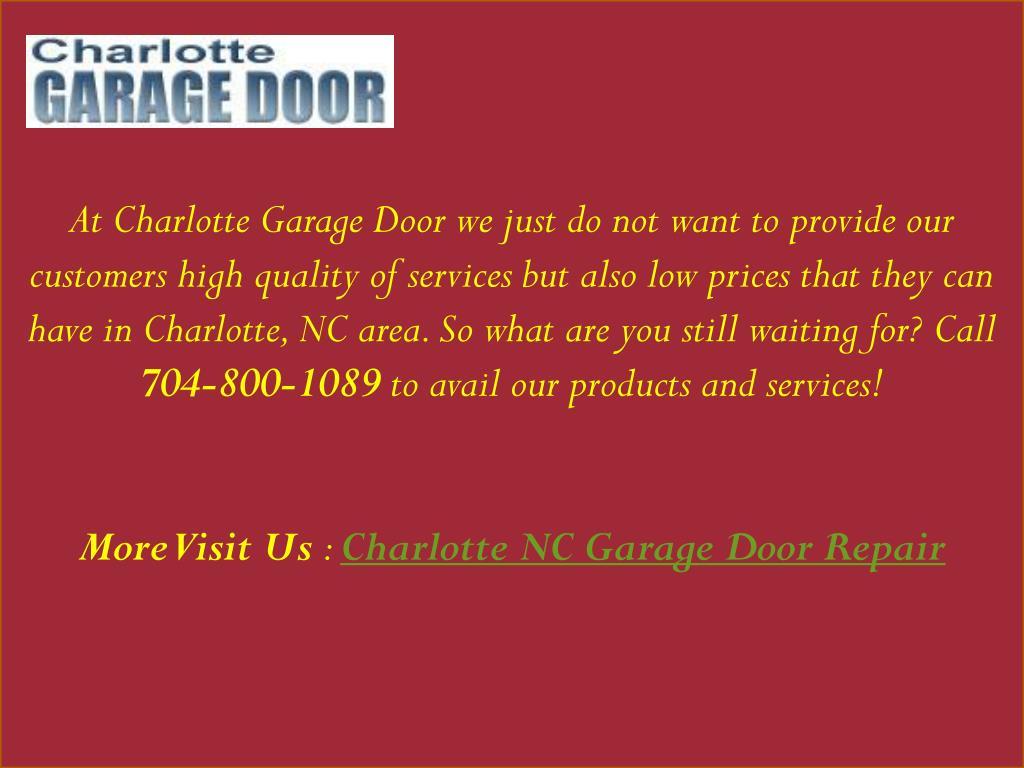 Ppt Garage Door Repair Charlotte Nc 704 800 1089