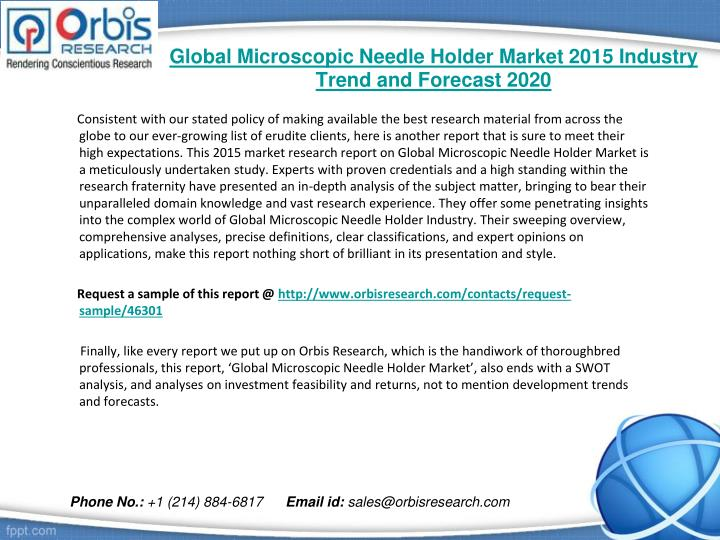 Global microscopic needle holder market 2015 industry trend and forecast 20201