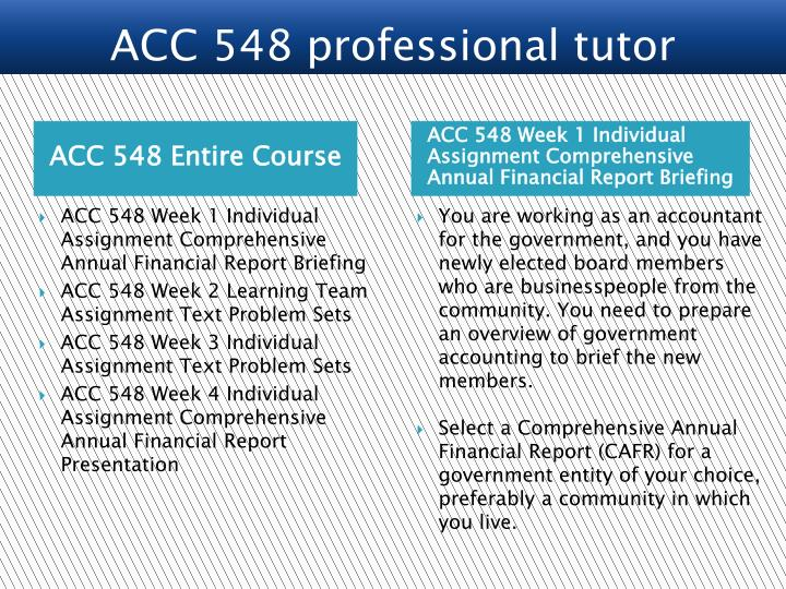 week 2 acc 548 Acc 548 week 2 sources of revenue prepare a summary spreadsheet for the workbook that provides a comparative.