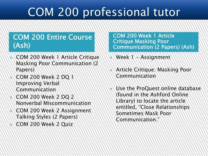 com200 week5final  communication is your foundation ligaya bishop com200: interpersonal communication instructor daniele doud may 25,  com200 week5final essay.