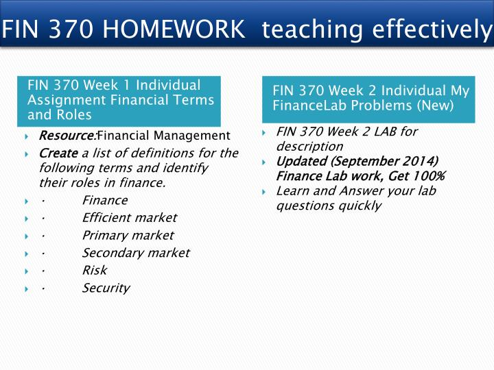 fin370 define financial terms University of phoenix material definitions define the following terms using your text or other resources essay on fin370 r8 fin370 week 1 financial term.
