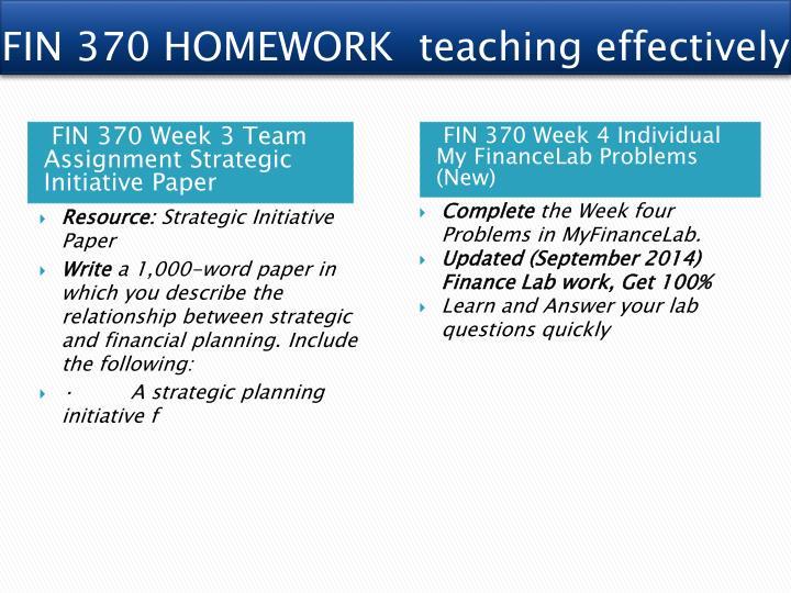 strategic initiative fin 370