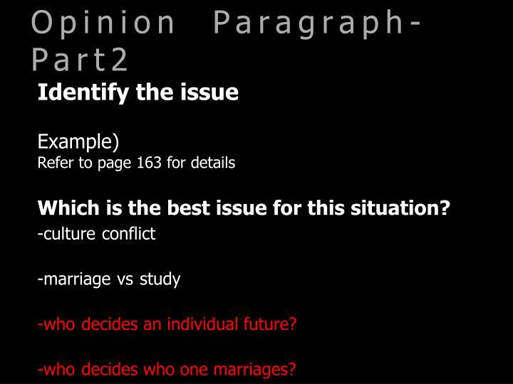 Opinion  Paragraph-Part2