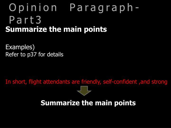 Opinion  Paragraph-Part3