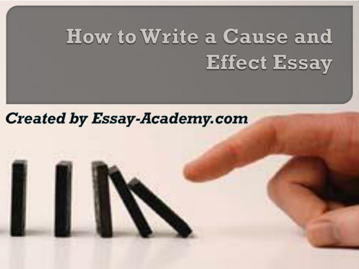 how to write a cause and effect Cause-and effect writing involves drawing connections between events, actions, or conditions so as to achieve a clearer understanding of the subject whether we choose to focus on causes (the reasons for something) or on effects (the consequences of something) depends on our subject and our purpose for writing.