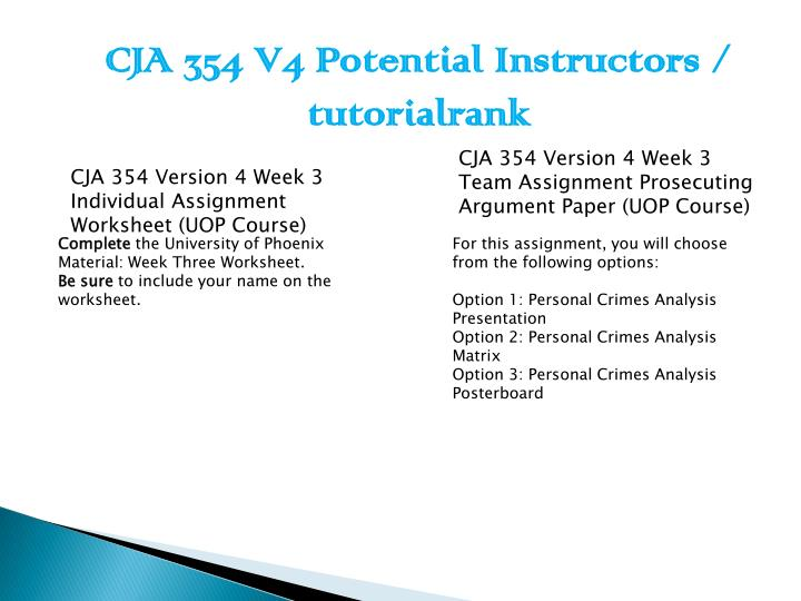 cja 354 week 4 summary Locate a recent criminal supreme court case you find interesting provide brief summary and criminal law paper cja 354 a+ 110 cja 354 week 4 worksheet of.