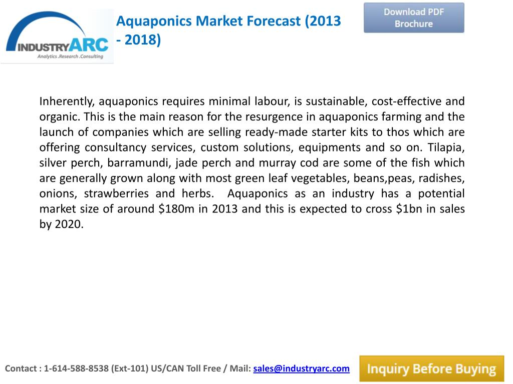 PPT - Aquaponics market is having a very potential market