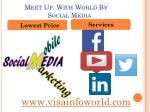 meet up with world by social media