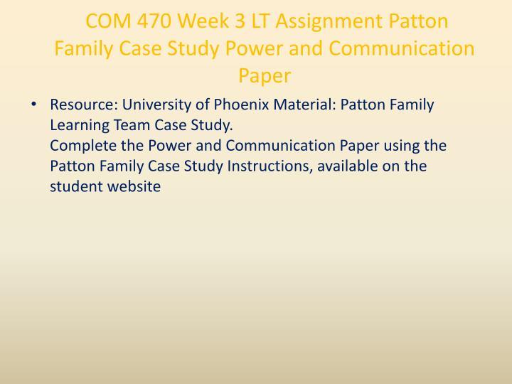 patton family case study