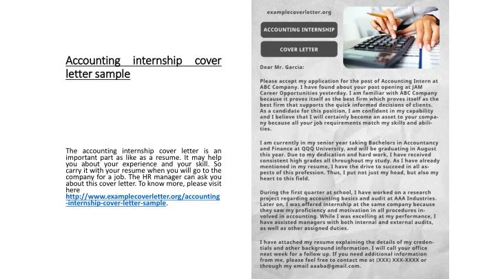 Accounting Intern Cover Letter from image4.slideserve.com