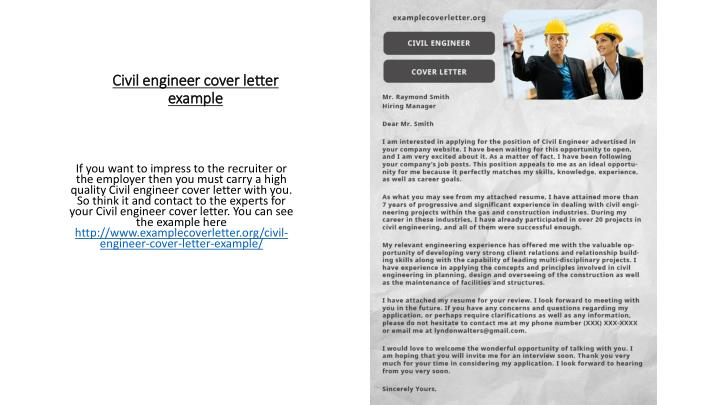 Ppt Civil Engineer Cover Letter Example Powerpoint Presentation Free Download Id 7257255