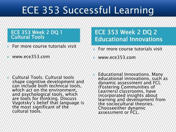 ECE 353 Week 2 DQ 1 Cultural Tools