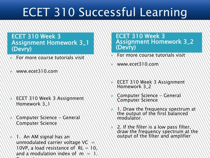 ECET 310 Week 3 Assignment Homework 3_1 (Devry)