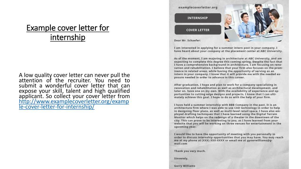 Example Cover Letter Internship from image4.slideserve.com